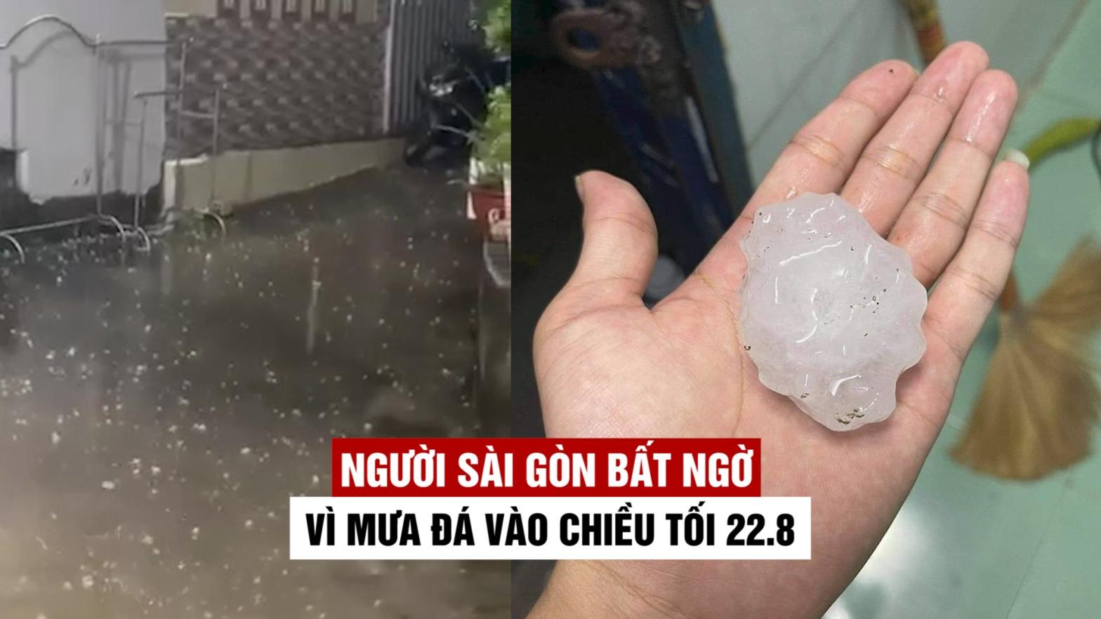 Mưa đá ở Sài Gòn, lốc xoáy vòi rồng ở Bến Tre