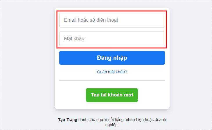 Đăng nhập Facebook bằng máy tính - Cách xem ai vào Facebook của mình